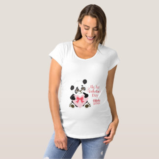 Baby's First Valentine's Day Maternity T-Shirt