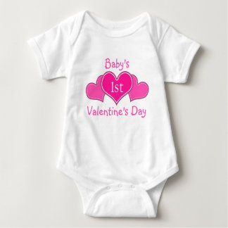 Baby's First Valentine's Day Tee Shirts