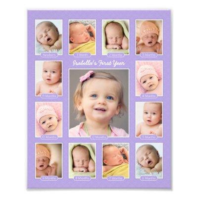 Babys First Year Photo Keepsake Collage Print Zazzlecomau