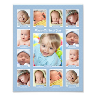 Baby's First Year Photo Keepsake Collage Print