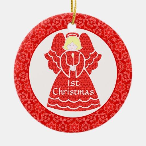 Baby's Girl's 1st Christmas Angel Christmas Tree Ornaments