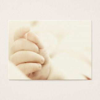 Baby's hand business card