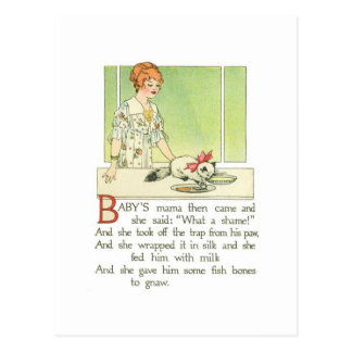 """Baby's mama then came and she said: """"What a shame! Postcard"""