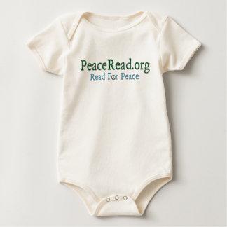 Baby's PeaceRead.Org Organic Logo Bodysuit