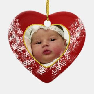 Baby's Photo Keepsake Christmas Ornament