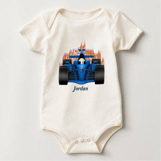 Baby's Race Car Flames Baby Bodysuit