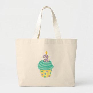 Baby's second birthday - cupcake jumbo tote bag