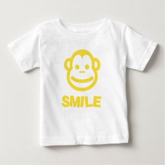 Baby's Smile T-shirt with cheeky monkey