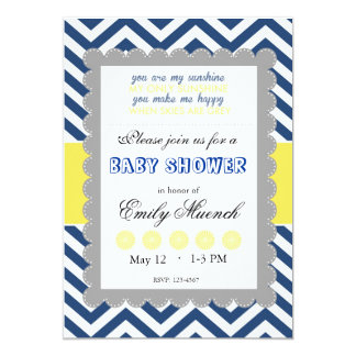 Babyshower in honor of: card