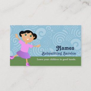 Babysitters business cards zazzle au babysitter business cards colourmoves