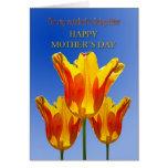 Babysitter Mother's Day, tulips full of sunshine Greeting Card