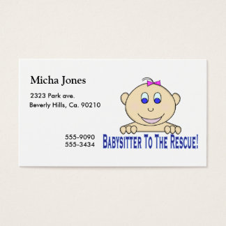 Babysitter To The Rescue Business Card