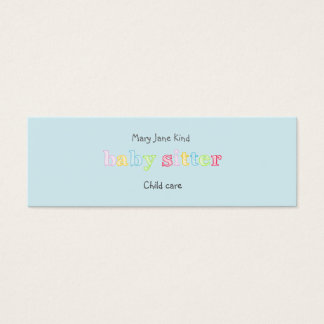 Babysitting & Child Care - Customizable Mini Business Card