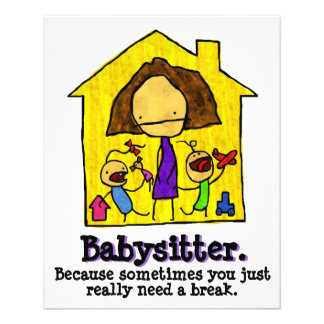 Babysitting. Child care. Day Care Flyer