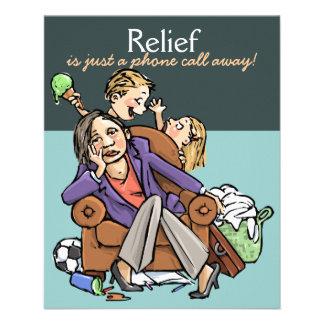 Babysitting Child care Mother's helper promo card