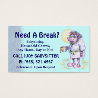 Babysitting Or Household Chores Business Card
