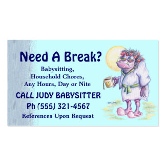 Babysitting Or Household Chores Pack Of Standard Business Cards