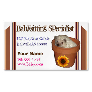 Babysitting specialist Magnetic business card