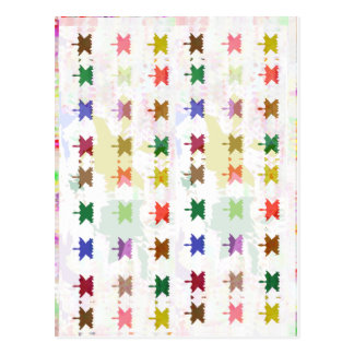 Babysoft Butterfly Patterns for Adults Postcard