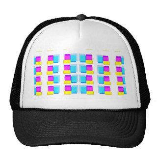 Babysoft Girly Blocks Design on White Base Hats