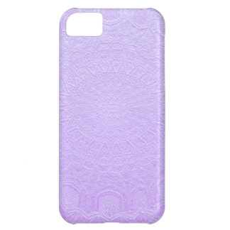 Babysoft Purple : Engraved SilverFoil Jewel iPhone 5C Case