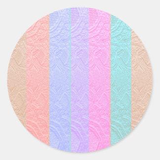 Babysoft Spectrum : Silver Foil Embossed Artwork Round Sticker