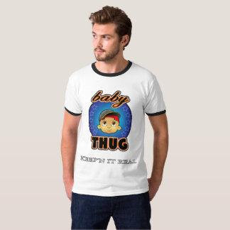 babyThug Baby Face White Ringer T-Shirt
