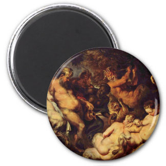 Bacchanal By Rubens Peter Paul (Best Quality) Magnet
