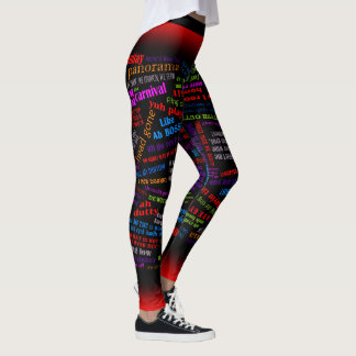 Bacchanal in De Carnival Leggings
