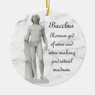 Bacchus 2 round ceramic decoration