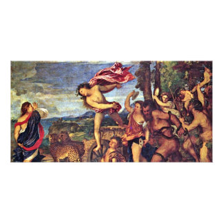 """Bacchus And Ariadne """" By Tizian (Best Quality) Customized Photo Card"""