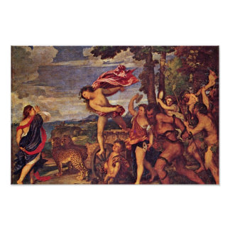 """Bacchus And Ariadne """" By Tizian (Best Quality) Poster"""