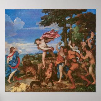 Bacchus and Ariadne c, 1523 Poster