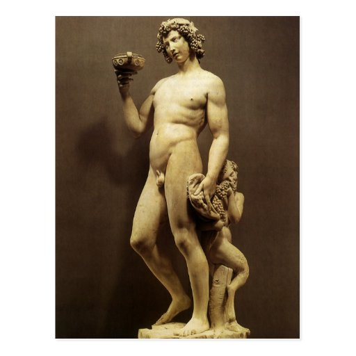 Bacchus by Michelangelo Post Cards