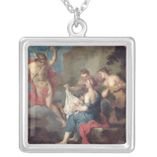 Bacchus Delivered to the Nymphs of Nysa Silver Plated Necklace
