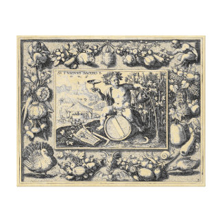 Bacchus God of Wine Canvas Print
