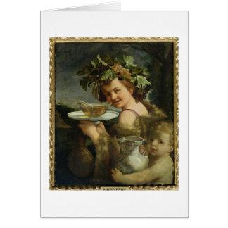 Bacchus (oil on canvas) card