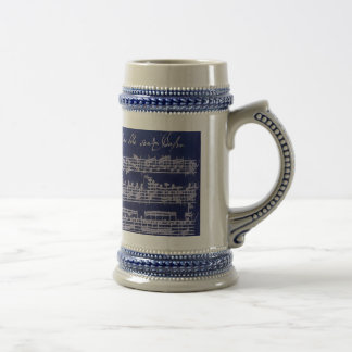 Bach Blue Partita Beer Stein