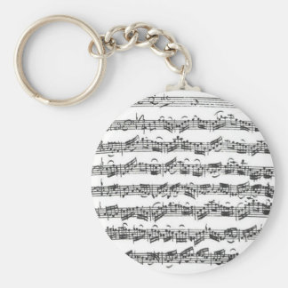 Bach Cello Suite Basic Round Button Key Ring