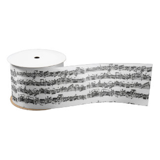Bach Cello Suite Music Manuscript Satin Ribbon
