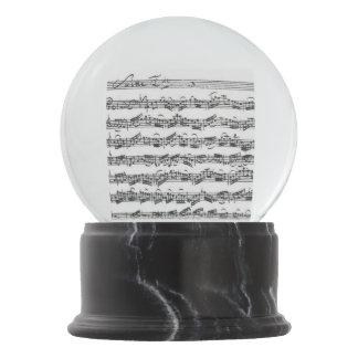 Bach Cello Suite Music Manuscript Snow Globe
