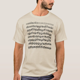 Bach Cello Suite Music Manuscript T-Shirt