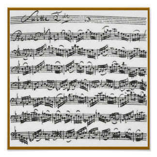 Bach Cello Suite Poster