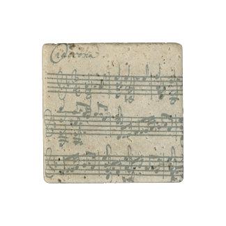 Bach Chaconne Original Handwritten Excerpt Stone Magnet