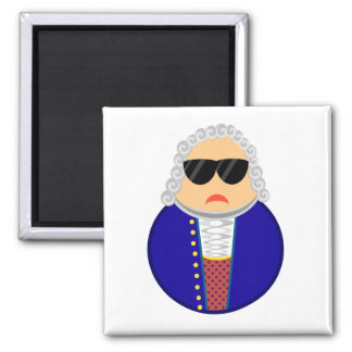 Bach Classical Music Composer Funny Gift Square Magnet