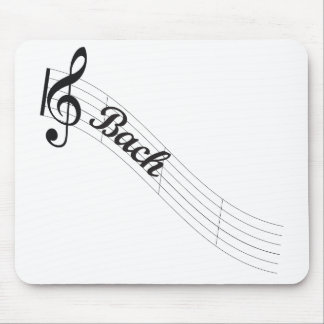 Bach Classical Music Treble Mouse Pad