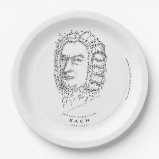 Bach: Face the Music 9 Inch Paper Plate