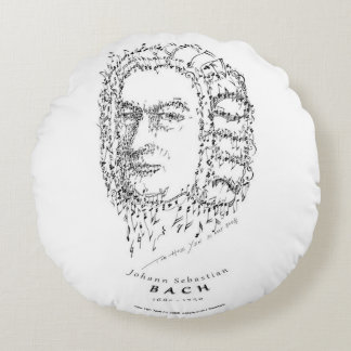 Bach: Face the Music Round Cushion