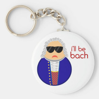 Bach Music Classical Composer Keychain