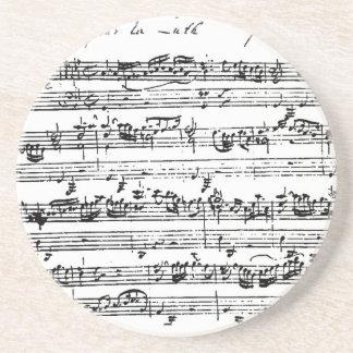 Bach music coaster